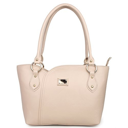 Women Marks Cream Polyurethane Stylish Handbag