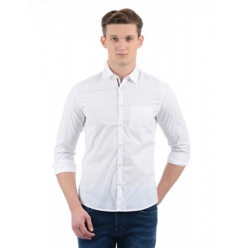 258f3f14cfa Buy Indian Terrain Men Solid Casual White Shirt online