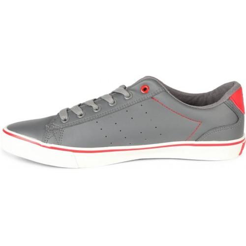 Fila Grey Canvas Shoes For Men