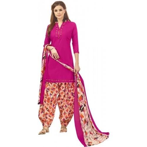 Saara Cotton Solid, Floral Print, Printed Salwar Suit Dupatta Material(Un-stitched)