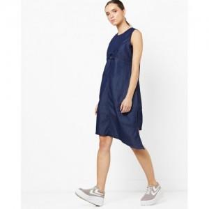 b5c359ac24a Buy AJIO Back-Tie Strappy Denim Dress online