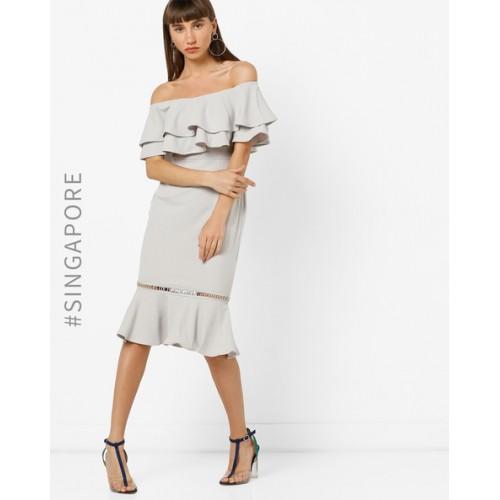 7bca819eb214 Buy MDS Off-Shoulder Mermaid Dress with Ruffles online