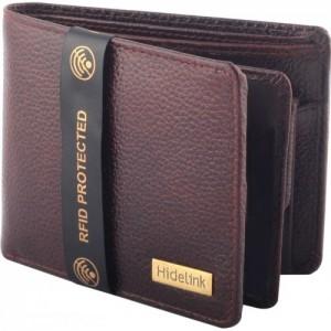 Hidelink Brown Genuine Leather Wallet