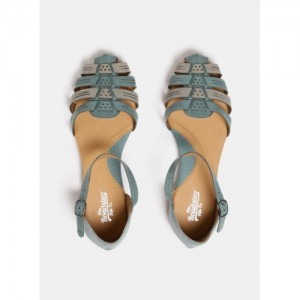 Roadster Blue & Grey Synthetic Colourblocked Ballerinas