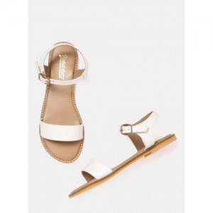 Roadster Off White Synthetic Solid Sandals