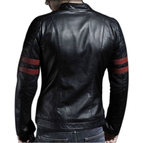 Leather Retail Wolverine Black faux Leather Jacket