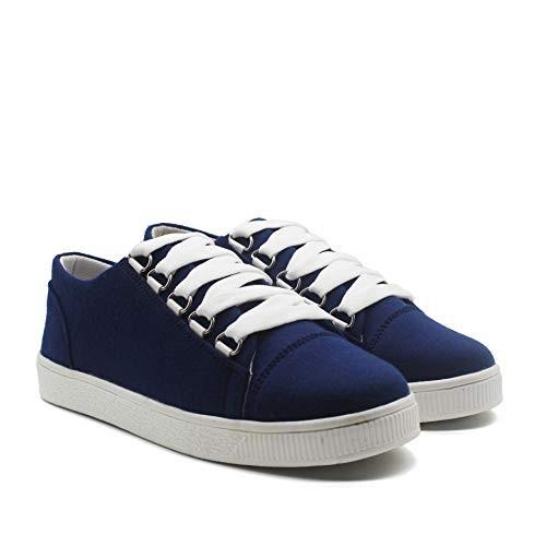 HASTEN Streex Navy Blue Synthetic Sneakers for Women