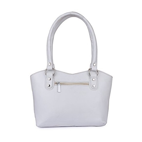 Ladies shoulder bag white color