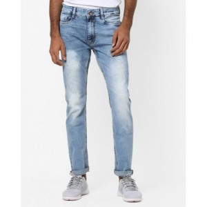 AJIO Mid-Rise Slim Tapered Jeans