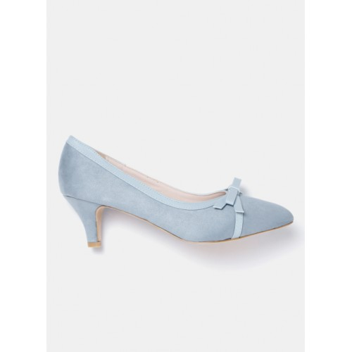 Mast & Harbour Blue Synthetic Solid Pumps