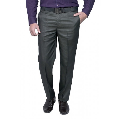 30630aba90e90 Buy Routeen Men s Black Slim Fit Formal Trousers online