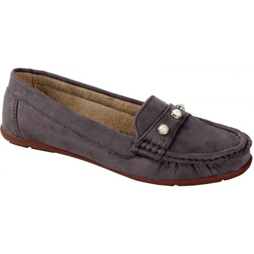 69c92fe1d4f Buy Catbird Grey Nubuck Leather Loafers For Women online