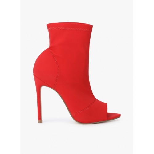 Truffle Collection Red Synthetic Boots
