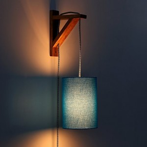 Craftter Sky Blue Color Hand Loom Wall Lamp
