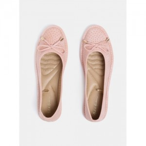 Mast & Harbour Pink Synthetic Slip On Belly Shoes