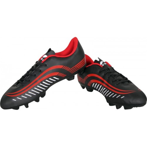 Nivia Storm Football Shoes For Men(Black, Red)