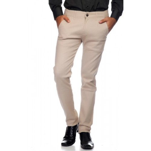 Ansh Fashion Wear Regular Fit Men's Beige Trousers