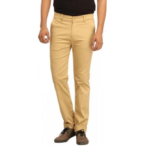 Ansh Fashion Wear Regular Fit Men's Beige Trousers