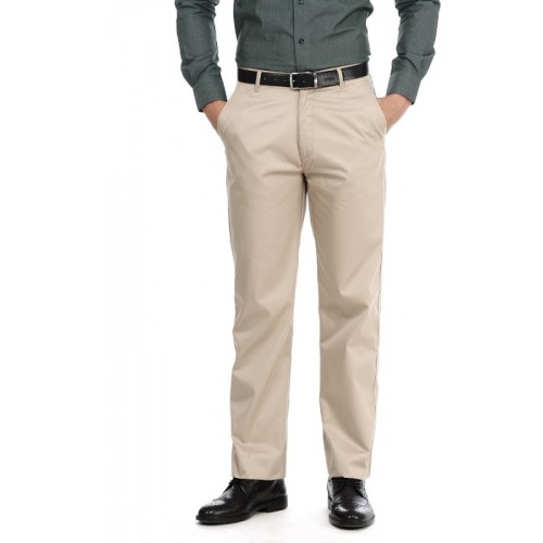 Basics Regular Fit Men's Beige Trousers