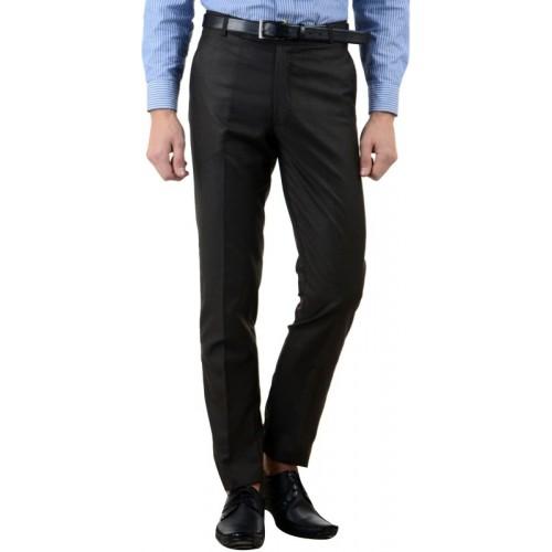 Haoser Regular Fit Men Black Trousers