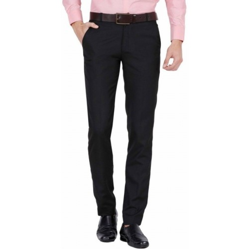 Classio Regular Fit Men's Black Trousers