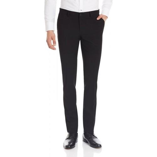 Classio Slim Fit Men's Black Trousers