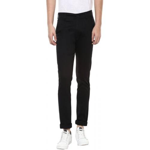 Ansh Fashion Wear Regular Fit Men's Black Trousers