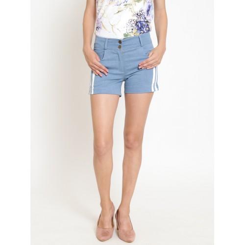 Rider Republic Women Blue Solid Regular Fit Denim Shorts
