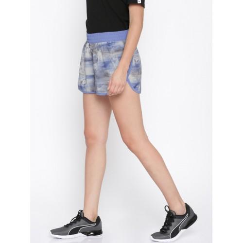 055f001a0297 Buy Puma Women Blue Printed Sports Shorts online