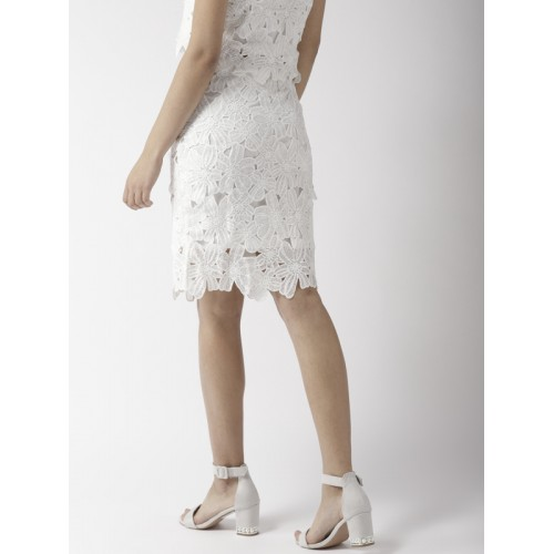 9597fe4fc84d Buy 20Dresses Women White Lace Pencil Skirt online | Looksgud.in