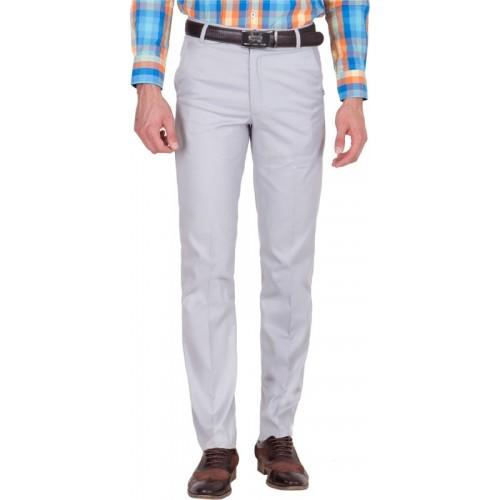 American-Elm Slim Fit Men's Grey Trousers