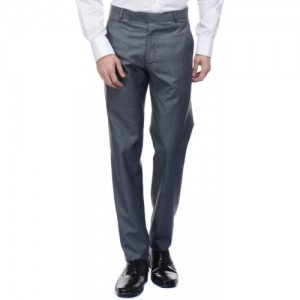 American-Elm Slim Fit Men's Grey Trousers
