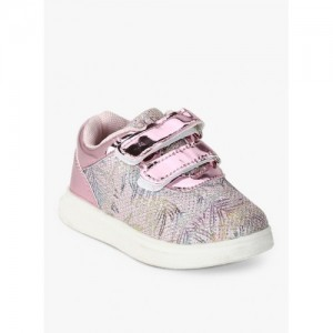 Kittens Pink Printed Casual Rubber Sneakers