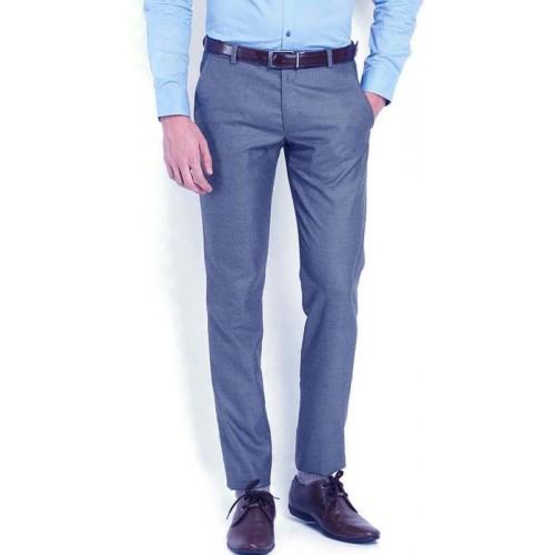 AD & AV Regular Fit Men's Blue Trousers