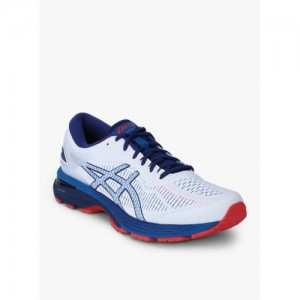 ASICS Gel-Kayano 25 White Synthetic Running Shoes For Men