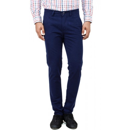 Uber Urban Rocky Slim Fit Men Dark Blue Trousers