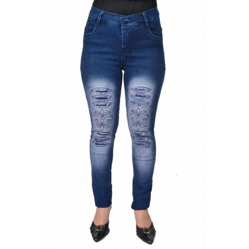Ico Blue Star Slim Women's Blue Jeans
