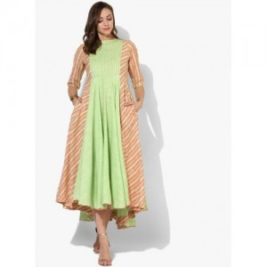 Sangria Green Cotton Pocket Style Kurta