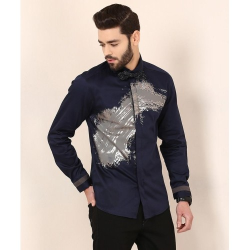 4334032fc31 Buy Yepme Navy Blue Cotton Dannic Party Shirt online