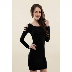 Miss Chase Black Slim Fit Dress