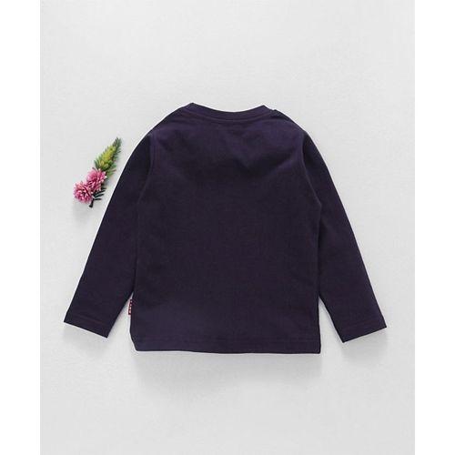 Fido Purple Cotton Full Sleeves T-Shirt Cool Dude Print