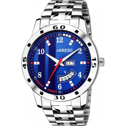 Abrexo Abx2070-Gents BLUE Day & Date Watch  - For Men