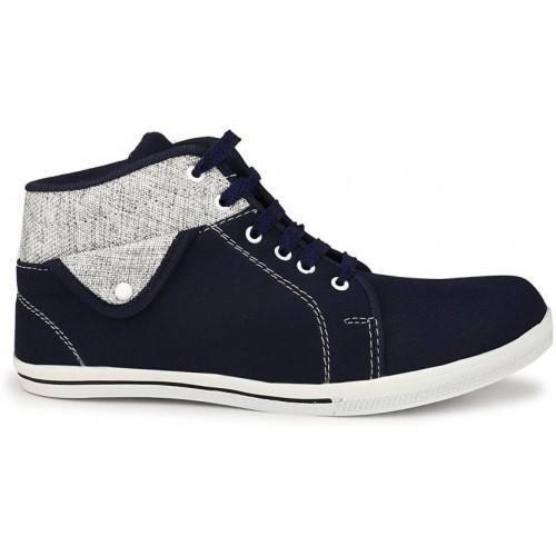 Shoe Island Navy Blue  Sneakers For Men