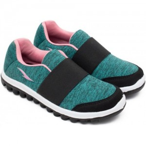 Asian Green Slip On Sports Shoes