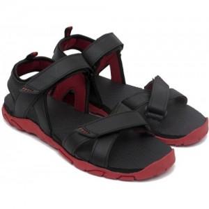Asian Black Ethylene Vinyl Acetate Velcro Sandals
