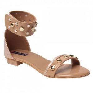 MSC women Beige Synthetic Sandal