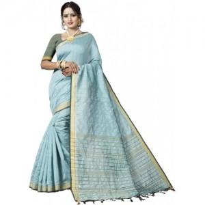 269f154f16378c Buy White World Women s Cotton Jacquard Saree With Blouse Piece ...