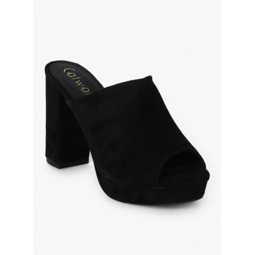 Catwalk Black Synthetic Regular Sandals