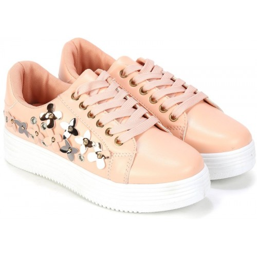 Catwalk Pink PU Casual Shoes For Women
