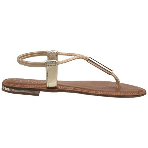 Catwalk Women's Golden Synthetic sandal